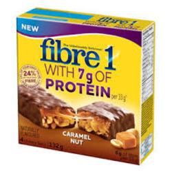fiber one 7g protein bar - caramel nut