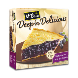 McCain Deep 'n Delicious Blueberry Pie