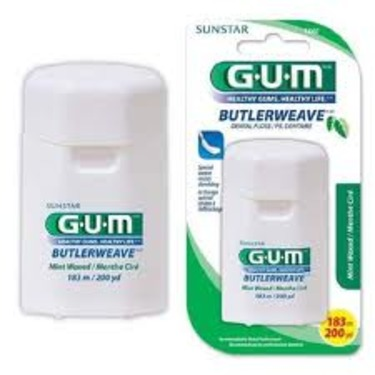 GUM® ButlerWeave® 200 Yd. Dental Floss, Mint, Waxed