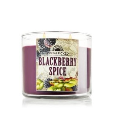 Bath & Body Works 3 Wick Candle in BlackBerry Spice