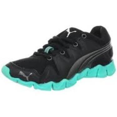 Puma Women's Shintai Running Shoe,Black/Aged Silver/Atlantis