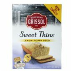 Grissol Sweet Thins Lemon Poppyseed