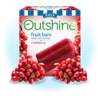 Edy's Outshine Fruit Bars Cranberry