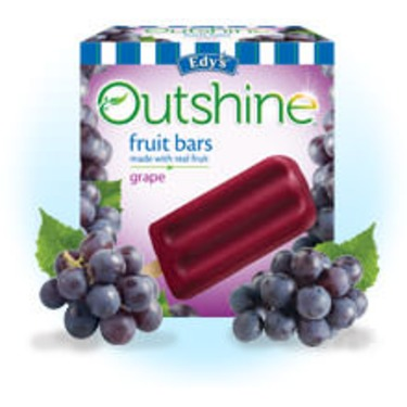 Edy's Outshine Fruit Bars Grape