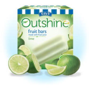 Edy's Outshine Fruit Bars Lime