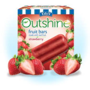 Edy's Outshine Fruit Bars Strawberry