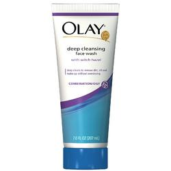 olay deep cleansing face wash with witch hazel