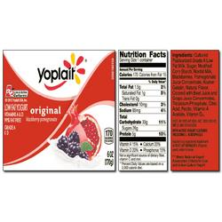 Yoplait Original BLACKBERRY POMEGRANATE yogurt