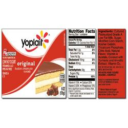 Yoplait Original BOSTON CREAM PIE Yogurt
