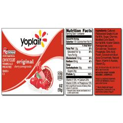 Yoplait Original CHERRY POMEGRANATE Yogurt