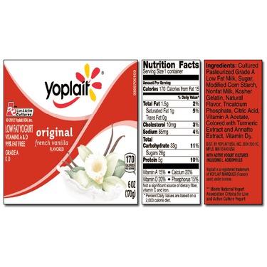yoplait nutrition facts label  blog dandk