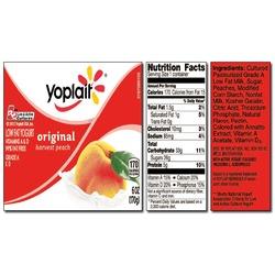 Yoplait Original HARVEST PEACH Yogurt