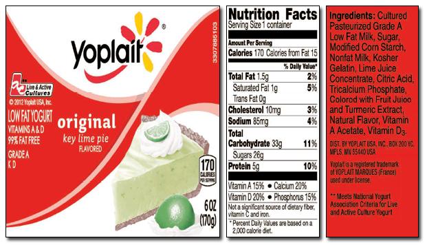 Yoplait Key Lime Pie Yogurt Reviews In Yogurt Chickadvisor