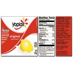 Yoplait Original LEMON BURST Yogurt