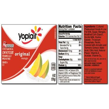 Yoplait Original MANGO Yogurt