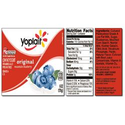 Yoplait Original MOUNTAIN BLUEBERRY Yogurt