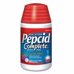 Pepcid Complete Acid Reducer + Antacid, Berry Blend Chewable Tablet