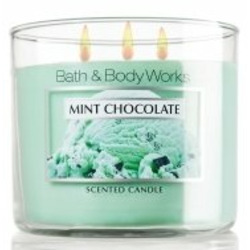 Bath & Body Works 3 Wick Candles - Mint Chocolate