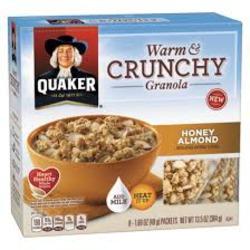 Quaker Warm & Crunchy Granola - Honey Almond