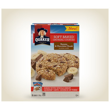 Quaker Soft Baked Cookies - Banana & Chocolate Chunk