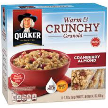 Quaker Harvest Warm & Crunchy Granola - Cranberry Almond