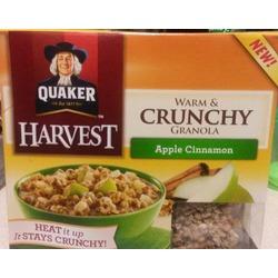 Quaker Harvest Warm & Crunchy Granola - Apple Cinnamon