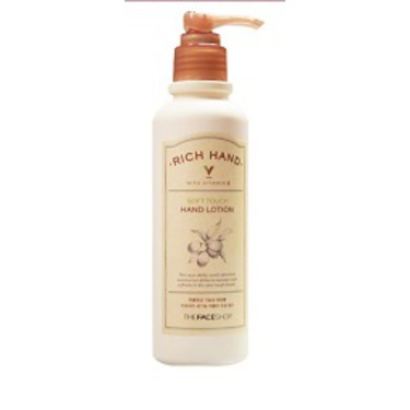 THEFACESHOP Rich Hand with Vitamin E Soft Touch Hand Lotion