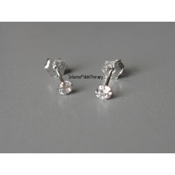 14kt White Gold & Cubic Zirconia earrings from BlingTings.com