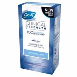 Secret Clinical Strength Invisible Solid Antiperspirant in Completely Clean Scent