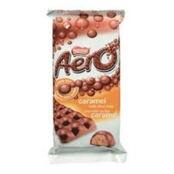 Nestle Aero Caramel Chocolate Bar