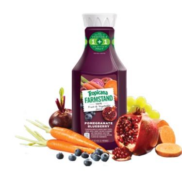 Tropicana Farmstand 1oo% vegetable & fruit juice- Pomegranate Blueberry