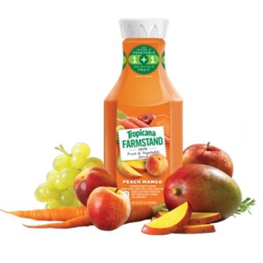 Tropicana Farmstand 100% Fruit & Vegetable Juice - Peach Mango