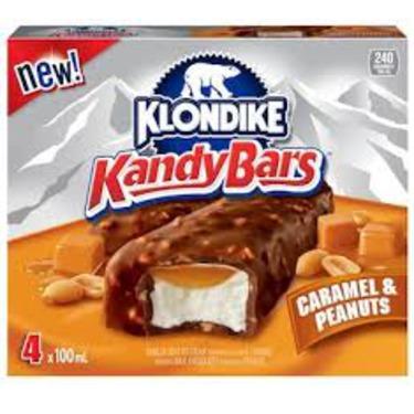 Klondike Caramel and Peanuts Candy Bars