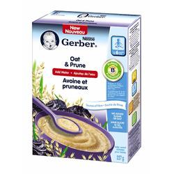 Nestlé Gerber Oat & Prune Baby Cereal