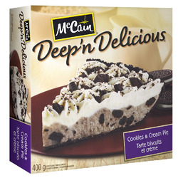 McCain Deep 'n Delicious Cookies & Cream Pie
