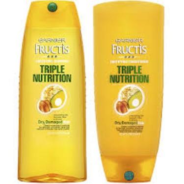 Garnier Fructis Triple Nutrition for Dry, Damaged Hair Shampoo & Conditioner