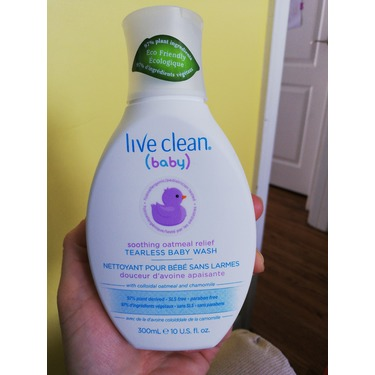 Live Clean (baby) Soothing Oatmeal Relief Tearless Baby Wash