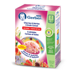 Nestlé Gerber Cherries and Berries Cereal