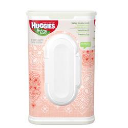 Huggies Natural Care Baby Wipes, Designer Tub