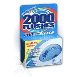 2000 Flushes - Blue plus Bleach