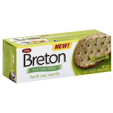 Dare Breton Gluten Free Herb & Garlic Crackers