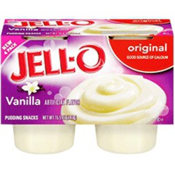 Jello Pudding Cups - Vanilla