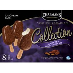 Chapman's Premium Collection Almond and Milk Chocolate Ice cream Bars