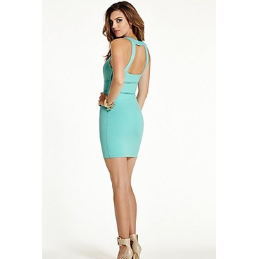 GUESS Monaco Mesh-Inert Sleeveless Bodycon Dress