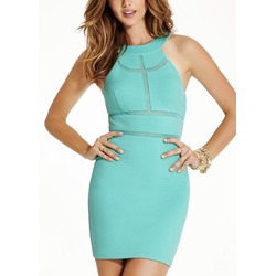 GUESS Monaco Mesh-Inert Sleeveless Bodycon Dress
