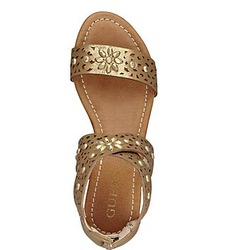 GUESS Achi Perforated Crisscross Sandals