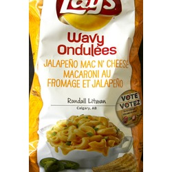 Lay's Jalapeno Mac & Cheese Chips