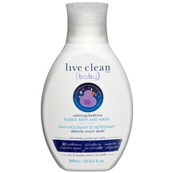 Live Clean (baby) Calming Bedtime Bubble Bath and Wash