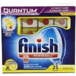 Finish Quantum Max Lemon Sparkle Dishwashing Detergent