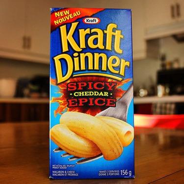 Kraft Dinner Spicy Cheddar